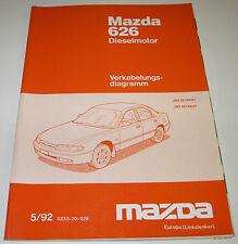 Werkstatthandbuch Elektrik Mazda 626 Dieslemotor Diesel Motor Typ GE 1992 - 1997