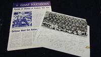 Vintage NFL New York Giants Team Photo & Program