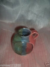 old Nc Pottery Candle holder Signed multi color