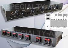 2 Amp 5 Speaker Pair Matrix Selector Switch Switcher Level Volume Control