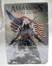 Assassins Creed III Case Steel Book Empty Metal Tin (Case Only) -No Game Disc