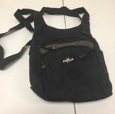 Eagle Creek Black Canvas Cross Body Travel Gear Organizer Bag Purse a1D