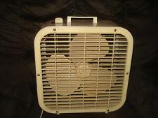 Vintage Lakewood Beige Metal Box Floor Fan 2 Speed 14 x 14 Chicago U.S.A.