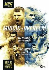UFC 203 Fight Poster (24x36) - Stipe Miocic vs Alistair Overeem, CM Punk vs Gall