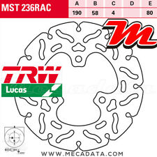 Disque de frein Arrière TRW Lucas MST 236 RAC Gilera FXR 180 Runner (M08) 2002