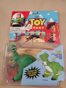Toy Story Rex Glow in the Dark Action Figure Disney ThinkWay 1996 New