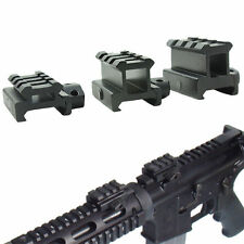 Tactical Compact Quick Release Scope Mount Adapter 4 picatinny slots Riser Rail