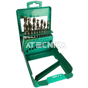 Kit 19 punte Hitachi x metallo cilindriche HSS da 1 a 10 mm contenitore metallo
