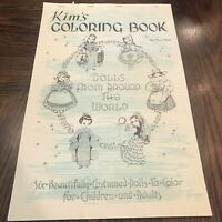 Vintage Kim's Coloring Book Dolls From Around The World By Red Farms Studios