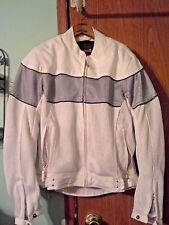 Power Trip woman Motorcycle Jacket with Armour & Removable Lining  White Size M