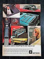 Vintage 1967 Amco Automotive Accesories Full Page Original Ad - Free Shipping