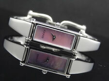 GUCCI 1500 Series Pink Mother-of-Pearl Dial Horsebit Silver Tone Women's Watch