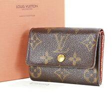 Auth LOUIS VUITTON Porte Monnaie Plat Monogram Canvas Coin Purse #35111