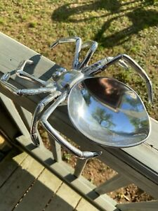 Silver Spider Candy Dish