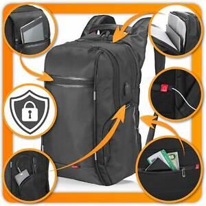 Business Laptop Rucksack - Anti Diebstahl Notebook Tasche mit USB Ladefunktion