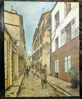 Vintage Canvas Print of a Painting Paris France French Cityscape Maurice Utrillo