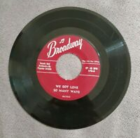 Broadway 45 Rpm Be My Guest We Got Love Popular Artists Vocals & Orchestra