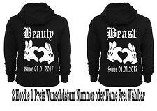 Beauty BESTIA Maglione con cappuccio 2 pezzi PARTNER LOOK paio MOLTI COLORI XS -