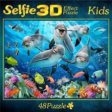 M. I. C. Puzzle/ Kinderpuzzle 48 Teile/ 3D Delfine  Kids