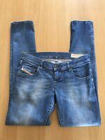 DIESEL Ladies GRUPEE Jeans W28 L30 Wash 0836X Mid blue with fade Stretch