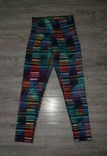 Lululemon  7/8 Wunder Under Striped Leggings With multicoloured New No Tag SZ6