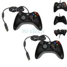 Lot2 Black Wired USB Gamepad Controller Joypad Handle Pad for Microsoft Xbox 360