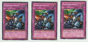 YUGIOH! REINFORCEMENTS  - 1ST EDITION -  YSD-EN032(X3)  - FREE P&P