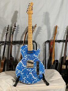 """Crook Guitars, Blue Paisley Lesquire (Les Paul/Telecaster style) """"Brad Paisley"""""""
