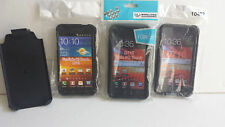 Lot of 3 Cases plus Belt Clip for Samsung Galaxy S II Epic 4G Touch SPH-D710