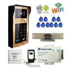 Keypad Wireless Wifi Video Intercom Door Phone Waterproof Doorbell Electric lock