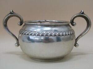 Vintage Gorham Victorian Scroll Sterling Silver Scroll Repousse Sugar Bowl 912