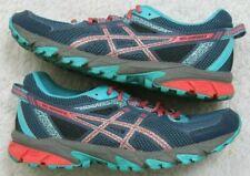 Asics Running Shoes 8 Eight Women's Woman's Gel Sonoma 2 Gray Blue Red 39.5 EU