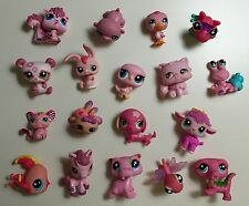"""💗Littlest Pet Shop Lot💗""""Passionate About Pink"""" 18 Assorted Pink Pets"""