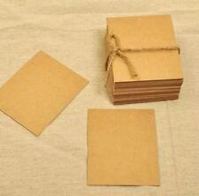 20x BROWN Blank Kraft Paper Card Bookmark DIY Greeting Card 15x10cm