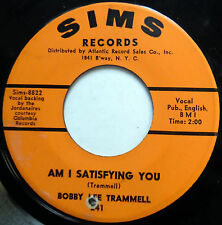BOBBY LEE TRAMMELL 45 I Tried / Am I Satisfying You ROCKABILLY Sims 1965 w3673