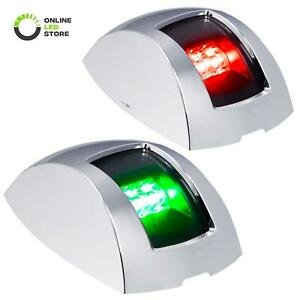Red Green LED Marine Navigation Lights for Fishing Boats USCG ABYC A-16 1NM IP67