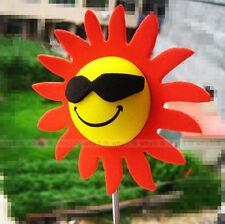 Red Petals Sunflower Flowers Antenna Balls Car Aerial Ball Antenna Topper Decor