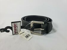 New Wrangler Rugged Wear Mens Black Stitched Leather Belt Size 44