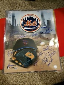 Mets Autographed Poster