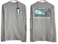 Vineyard Vines Men's Sz XS Double Sided Whale Happy Halloween Pocket T-Shirt NWT