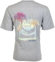 TOMMY BAHAMA Men T-Shirt TAKE IT ONE SWAY AT A TIME Relax GREY Camp XL-3XL $45 b