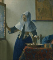 Young Woman With A Water Pitcher Jan Vermeer Fine Art Print on Canvas Giclee SM
