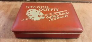 Vintage Stencil Outfit Tin