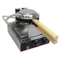 Piastra Singola per Waffle e Cialde Belga Professionale Antiaderente 220V 1000W