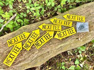 ⭐️Next Tee Steel Directional Disc Golf Arrow Pointer Sign Course Navigation Set