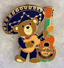 HARD ROCK CAFE COZUMEL MEXICO MARIACHI BEAR WEARING BLUE WITH GUITAR PIN # 95697