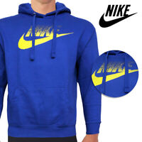 Nike Men's Long Sleeve Athletic Wear Futura Graphic Logo Active Pullover Hoodie