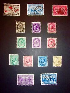 1897 -1947 vintage Canadian used stamps