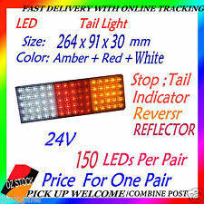 2x 24v LED Tail Light UTE Trailer Caravan Stop Tail Indicator Reverse Reflector