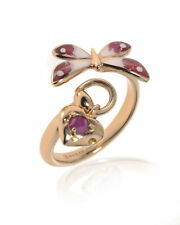 Gucci 18k Rose Gold And Ruby Flora Ring Sz 7.25 YBC391011002015